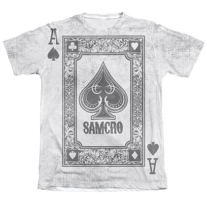 Sons Of Anarchy Ace Of Spades Sublimation T-Shirt