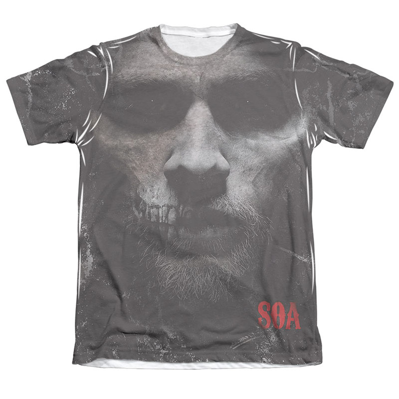 Sons Of Anarchy Jax Skull Sublimation T-Shirt