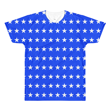 Premium Quality Stars Front and Back Print Tshirt