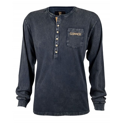Guinness Washed Black Henley