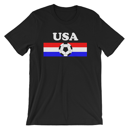 World Cup Soccer USA Black Tshirt