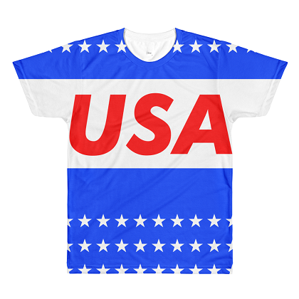 Premium Quality USA Stars All Over Print Tshirt