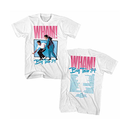 WHAM Big Tour White T-Shirt