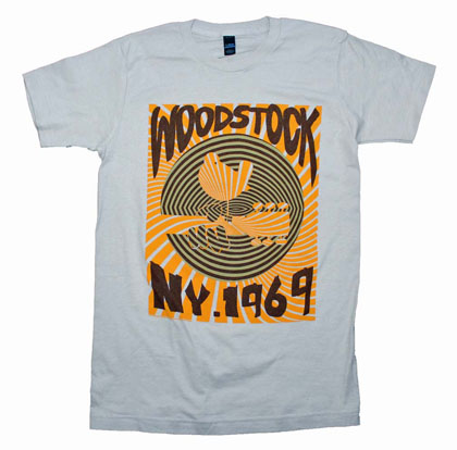 Woodstock Men's 1969 Striped Slim Fit T-Shirt